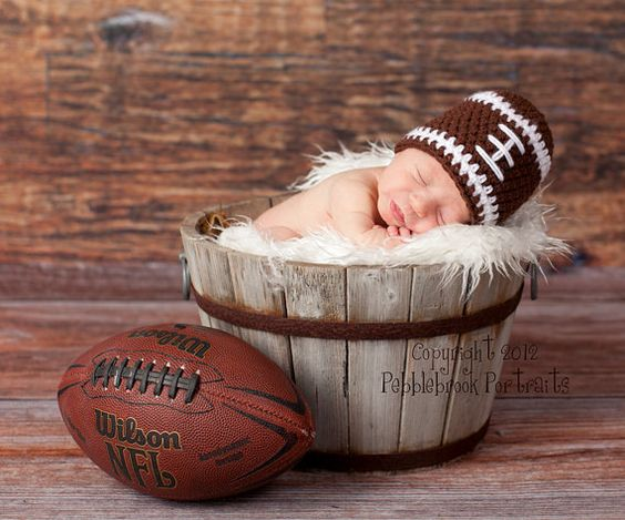 Newborn Baby Prop Football Hat by ruth0013 on Etsy, $10.00