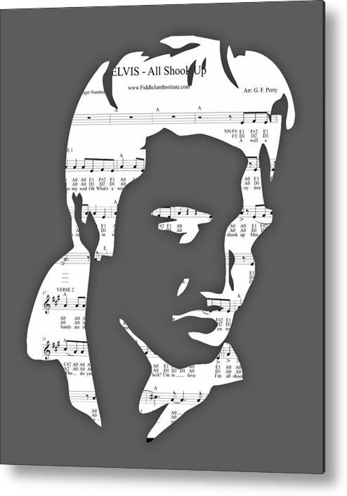 Elvis Metal Print Featuring The Mixed Media Elvis Presley All