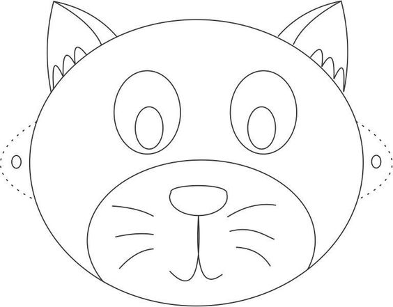 Cat Mask Coloring Pages For Kids And Masks On Pinterest