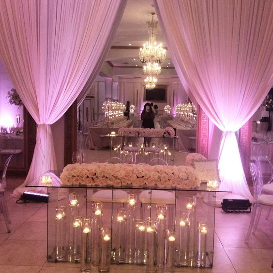 Sweetheart table by @floraeventi .  Love it.