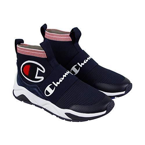 C Knit Sock Top Sneaker, Navy, 10M