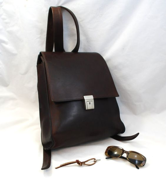 Vintage NYC made Modernist Rugged Extra Large Oil-tanned Leather ...