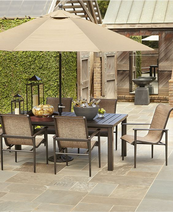 "Badgley Outdoor Patio Furniture Dining Sets & Pieces 84"" x 44"""