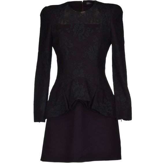 ALEXANDER McQUEEN Dark purple power shoulder and peplum mini-skirt dress | Brand dress rental salon''SHIROTA''
