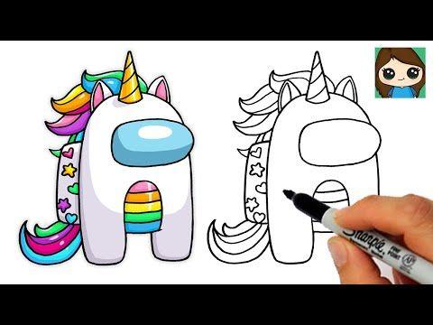 Rainbow Unicorns Are Among Us Game Inspired Fanart Blue Range In 2021 Disney Fan Art Fan Art Unicorn Stickers