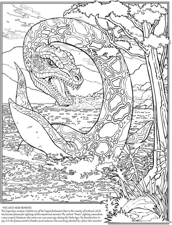 cryptid coloring pages - photo#29