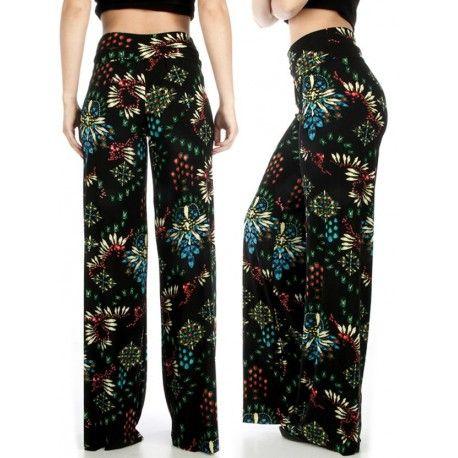 Digital Flower palazzo pants