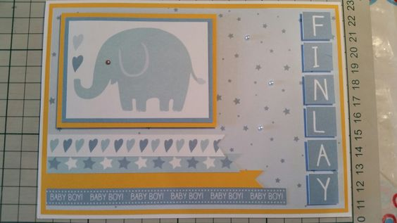 Baby boy card by me!