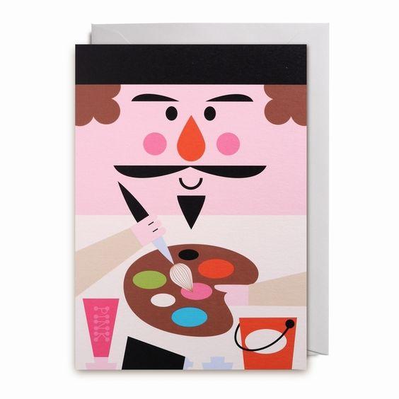 Greeting card #artist by #Ingela P #Arrhenius from www.kidsdinge.com https://www.facebook.com/pages/kidsdingecom-Origineel-speelgoed-hebbedingen-voor-hippe-kids/160122710686387?sk=wall