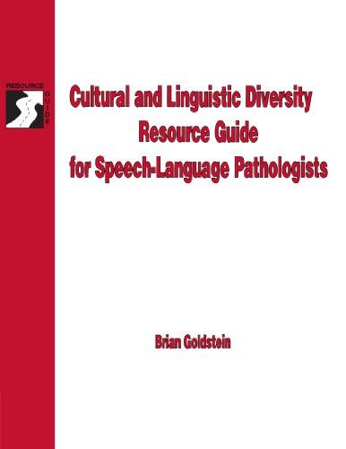 Cultural & Linguistic Diversity Resource Guide For Speech-Language Pathologists (Singular Resource Guide Series) by Brian Goldstein http://www.amazon.com/dp/0769300316/ref=cm_sw_r_pi_dp_IgV6tb1XA78ZE