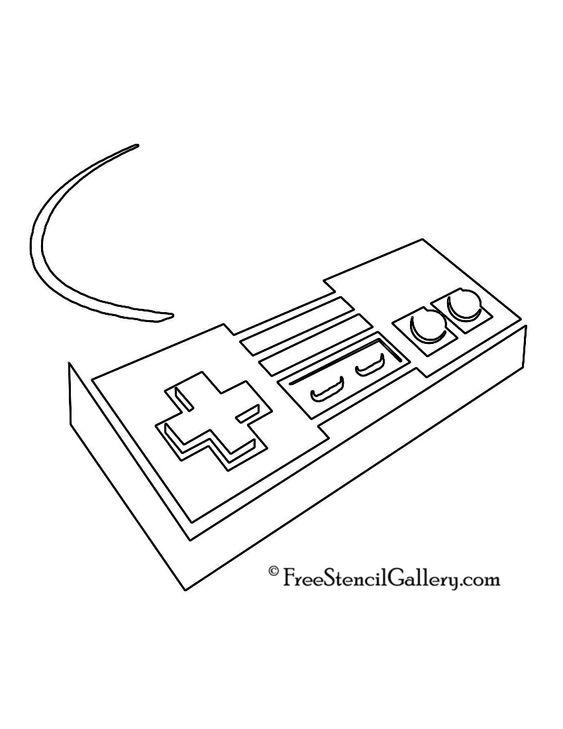 nintendo nes controller stencil 573nc115 pinterest With controller wiring diagram on nintendo nes controller wiring diagram