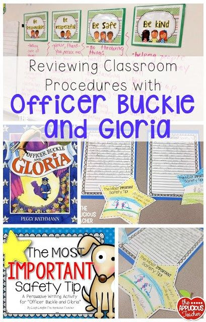 "Use the story, ""Officer Buckle and Gloria"" to review classroom procedures when you get back in January, or at any point when kiddos need that reminder! Such great ideas!"