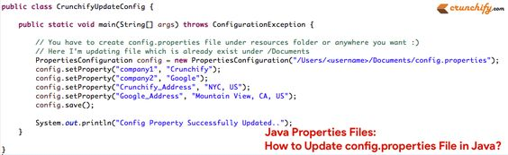 New: #Java Properties Files: How to Update config.properties File in Java? http://crunchify.me/1VIBxNV #job #interview #csjob