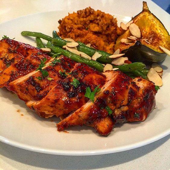 Barbecue chicken entrée #cheflife