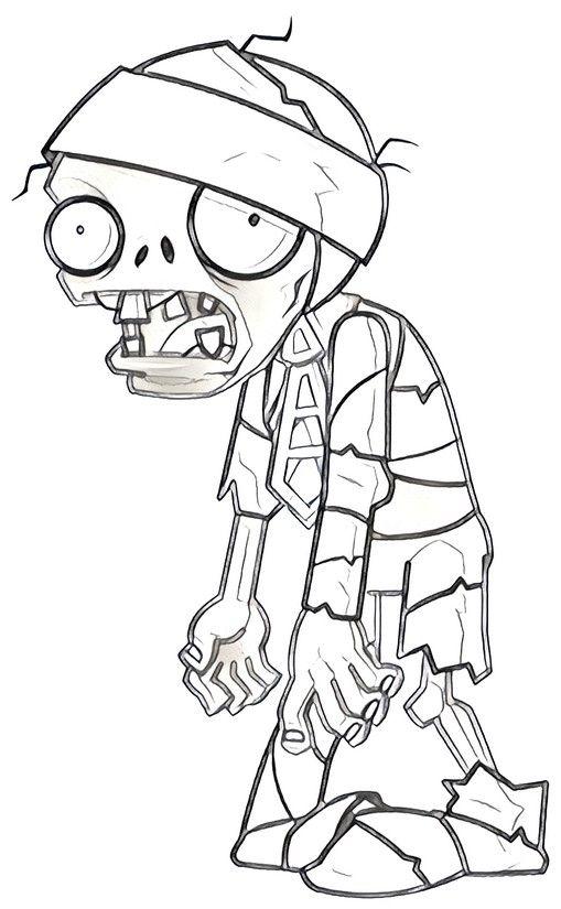 Resultado De Imagen Para Dibujos Para Pintar Plantas Vs Zombies Dibujos De Zombies Plantas Contra Zombies Pintura De Halloween