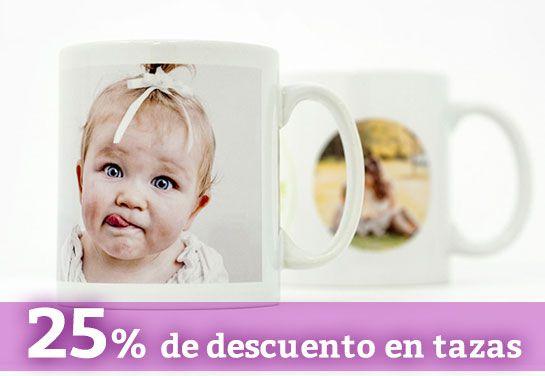 Diseña una taza única ahora con el 25% de descuento