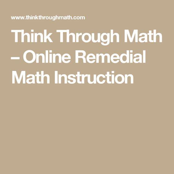 math worksheet : think through math  online remedial math instruction  blended rh pinterest  : Remedial Math Online