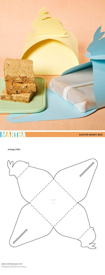 Bunny boxes (with video tutorial & free box template).: