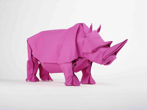 This looks tricky - who would like to make one for us? | ORIGAMI RHINO from Mabona Origami: