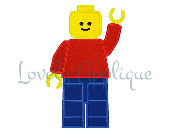 lego man applique design