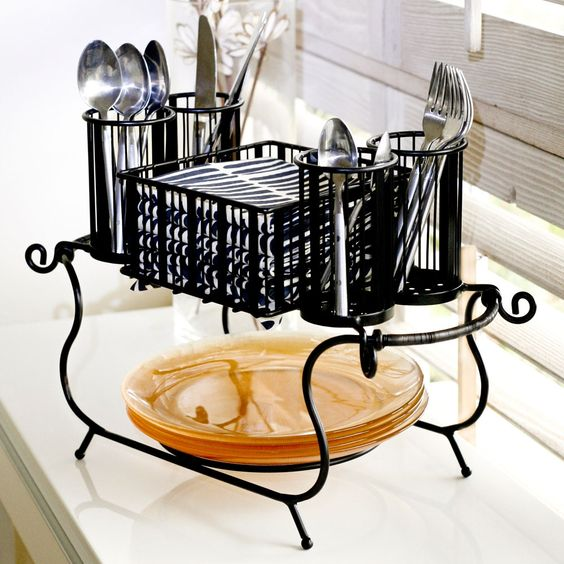 this might work... by Mesa Home  Butte Stackable Buffet Caddy