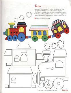 Tre Trenzinho Locomotiva Padroes De Livros Tranquilos