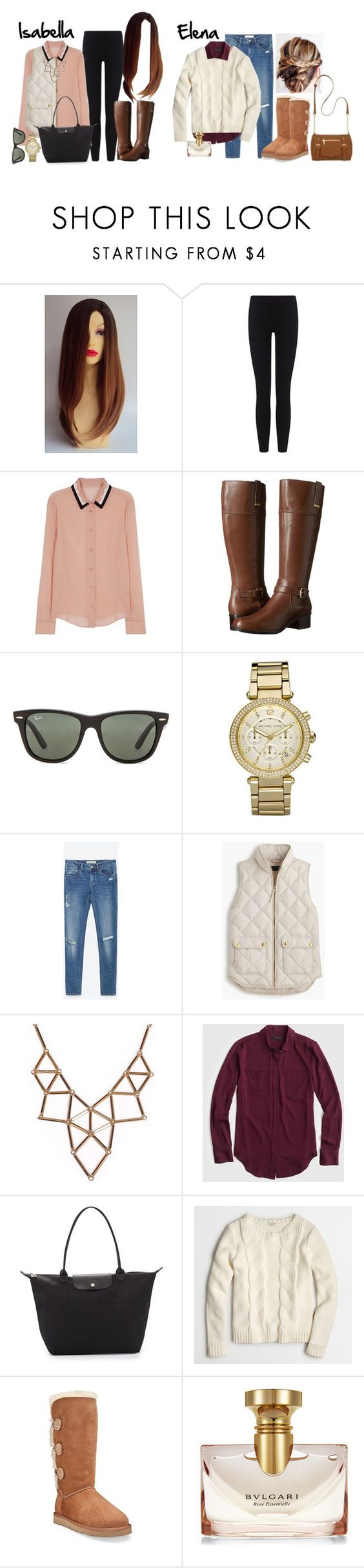"""""""Dinner Date // #mfeocouplescontest"""" by stevie22 ❤ liked on Polyvore featuring James Perse, RED Valentino, Bandolino, Ray-Ban, Michael Kors, Zara, J.Crew, Chicnova Fashion, Longchamp and UGG Australia"""