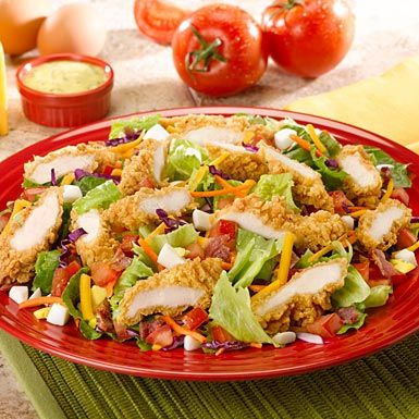 My favorite salad at my favorite restaurant (the crispy chicken salad at Red Robin). Yes, it's basic and 100% American. I'm going there for Mother's Day!