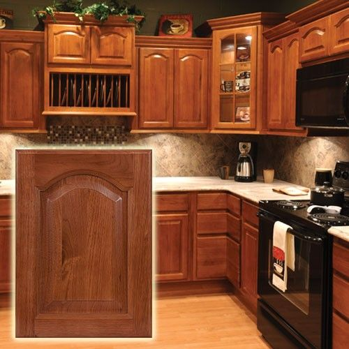 Affordable Kitchen Cabinet Updates: Hickory Cathedral Cabinets. Classic Look.