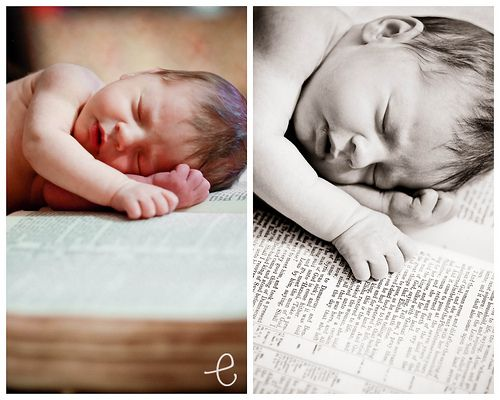Baby with Bible