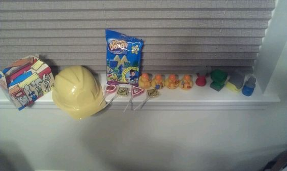Construction goody bag stuff