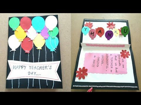 Diy Flower Pot Card Handmade Greeting Card Making Ideas Youtube Teachers Day Card Handmade Teachers Day Cards Teachers Day Greeting Card