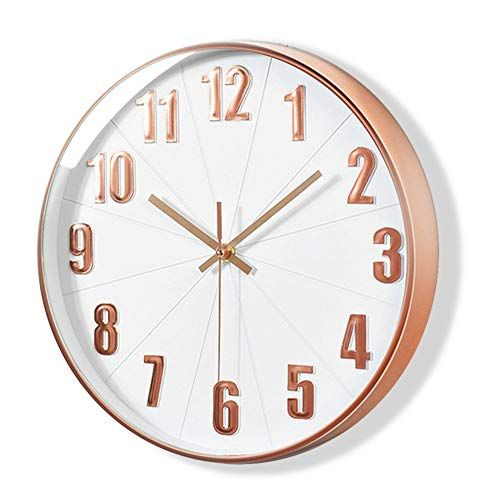 Lucor Rose Gold Wall Clock Silent Non Ticking 12 Inch Https Www Amazon Com Dp B07g971fsv Ref Cm Sw R Pi Dp U X Clock Wall Clock Battery Operated Clock