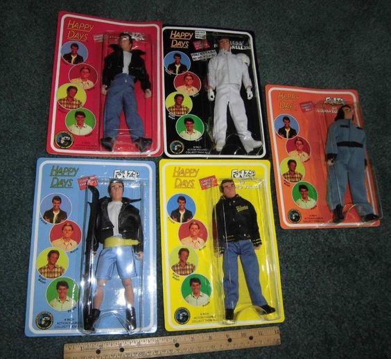 Happy Days Fonz Set of 5 - Classic TV Toys - 70's Vintage Retro  #classictvtoys