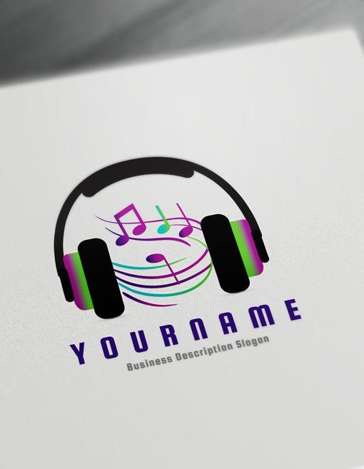 Music Logo Design Online Create A Logo D J Logos Music Logo Maker Online Online Logo Design Music Logo Design Dj Logo