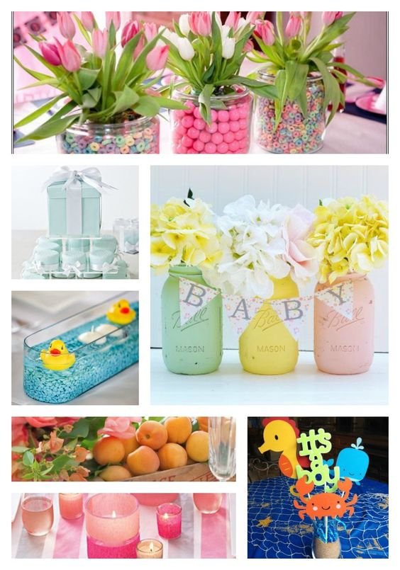 diy and crafts mason jar centerpieces the banner diy baby shower
