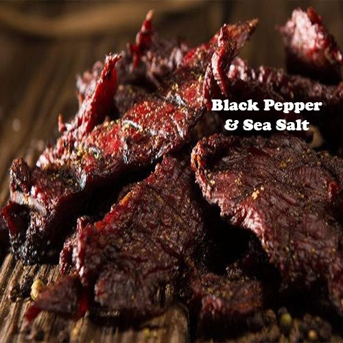 Black Pepper Sea Salt Beef Jerky 2 75 Oz Each Stuffed Peppers Jerky Recipes Beef Jerky