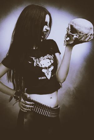Skulls and rock and roll.