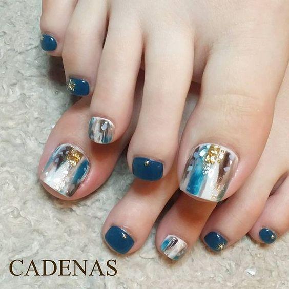 Nice toenails: