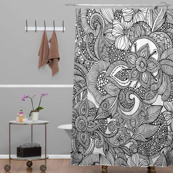 Valentina Ramos Doodles Shower Curtain