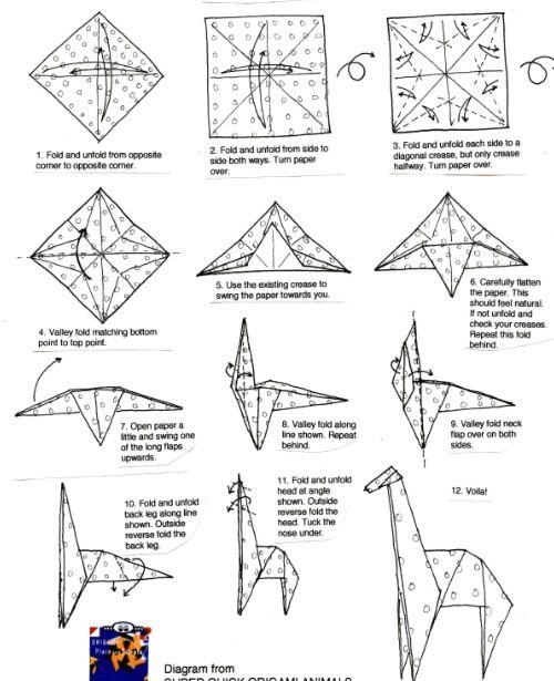 giraffes and origami on pinterest