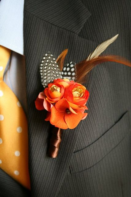 Fall Boutonniere by sweet b., via Flickr