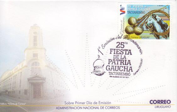 06 - 1a Emisión del Bicentenario - 25ta Fiesta de la Patria Gaucha - Boleadoras