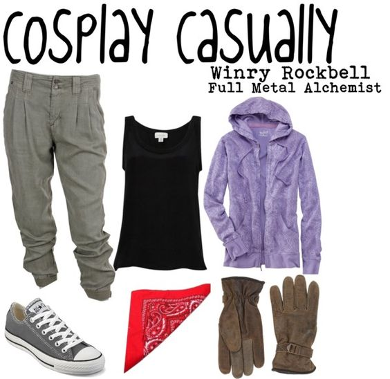 Casual cosplay of Winry Rockbell (from Full Metal Alchemist anime series)-- character inspired outfit