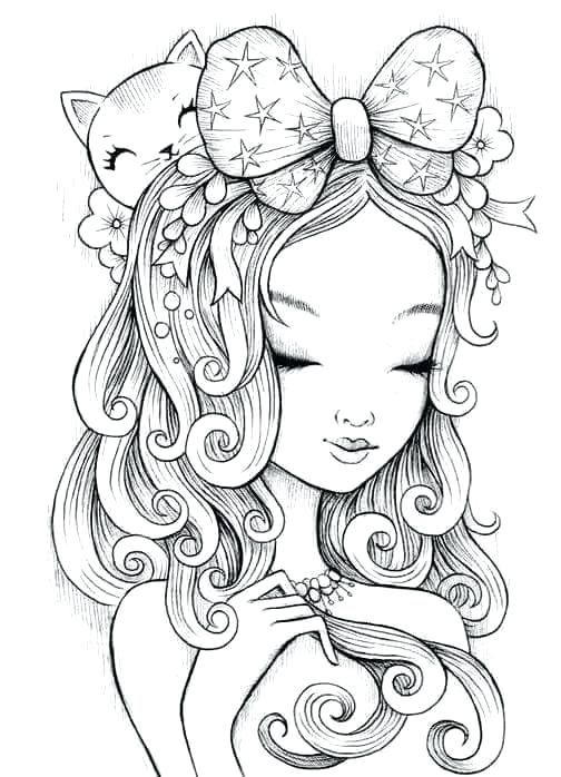 Fairy Coloring Pages For Adults Printable Anime Manga Coloring Page Fairy Coloring Pages Adults Printa Cute Coloring Pages Coloring Pages People Coloring Pages