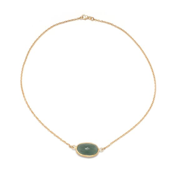 Aquamarine Chain Necklace