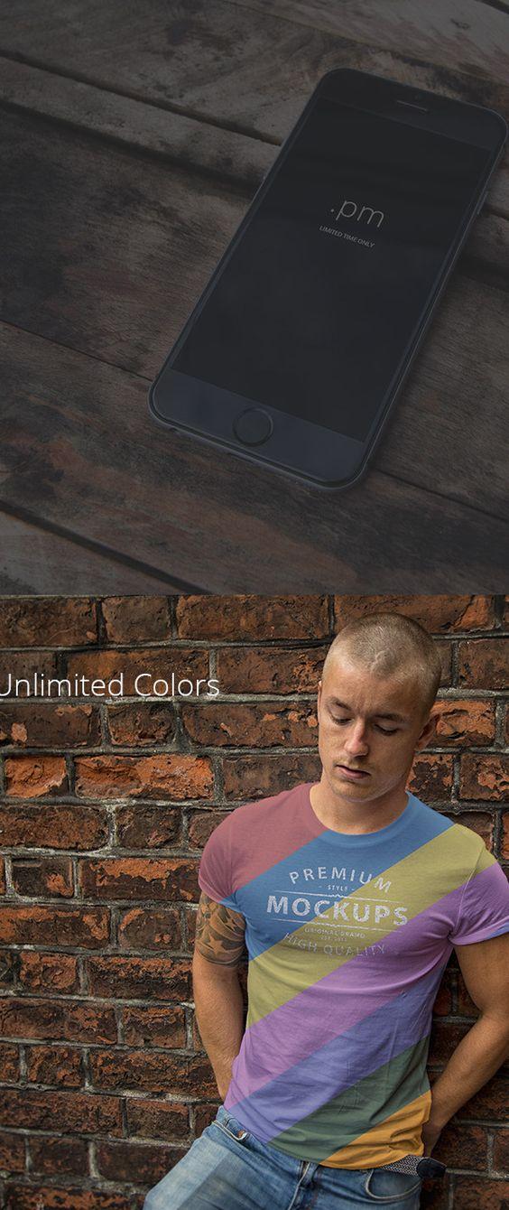 Mockups - Phone 6, t-shirt PSD