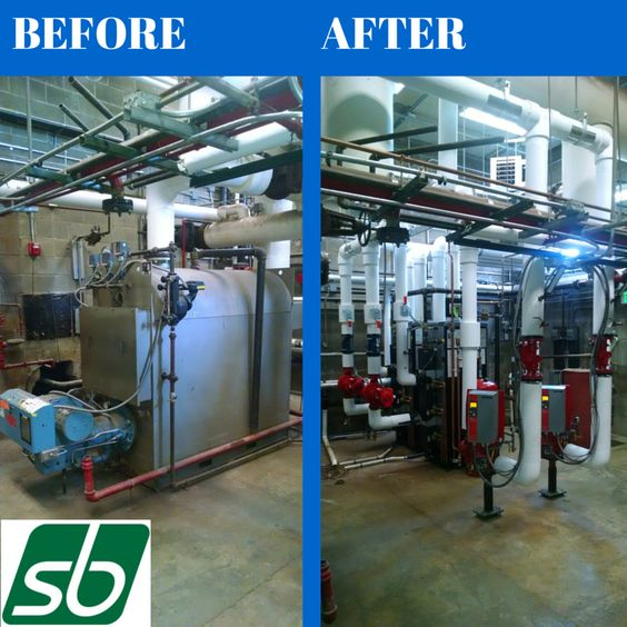 A great before and after feature of our work! #commercial #building #mechanicalservices http://www.sbmech.com