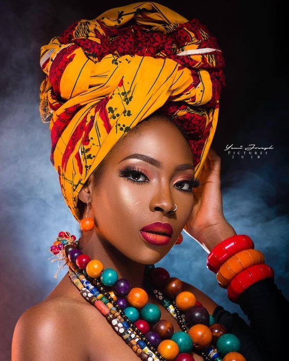 Ankara Xclusive: Classical Ankara Head Wrap Style For Beautiful Ladies