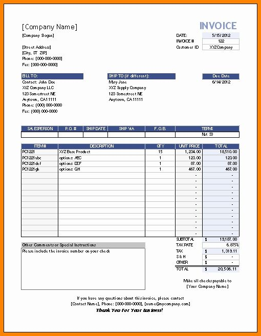 Invoice Template For Mac Lovely 6 Editable Invoice Template Excel Invoice Template Word Invoice Template Invoice Format In Excel